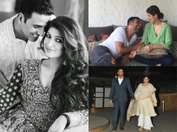 Candid Pictures Of Akshay Kumar And Twinkle Khanna