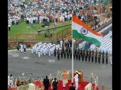 Attari Wagah Border Tallest National Flag Seen Lahore Amritsar Bsf