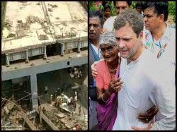 Flyover Collapse In Kolkata Rahul Gandhi Visits The Place