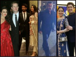Preity Zinta Reception Party Pictures Celebs Srk Salman Iulia Shahid