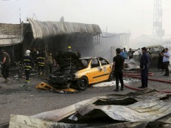 Over Hundreds Dead In Triple Baghdad Car Bombings Claimed By Isis