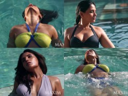 Hot Pictures Of Richa Chadda From Maxim Shoot In A Bikini