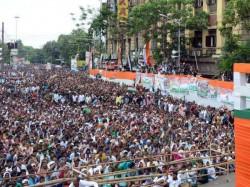 st July Tmc Supporters Coming In Huge Margin At Esplanade Kolkata