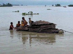 Dead 68 Lakh Displaced As Rain S Pound North East