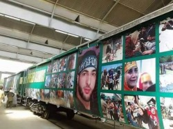 Burhan Wani S Posters On Walls Pakistan S Train