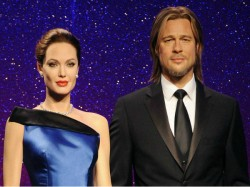 Madame Tussauds Separate Jolie Pitt Wax Figures Post Split