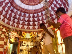 Durga Pujo Special Kalighat Milan Sngha Pandal Theme
