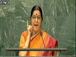 Sushma Swaraj Attacks Pak Says Such Nations As Culpable As Terrorists