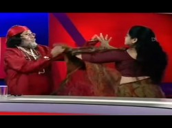 Bigg Boss 10 Contestant Swami Omji Slapped Woman On Tv Watch Video