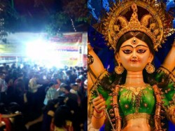 Crowd Gather See Durga Idol Ekadoshi
