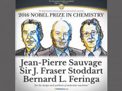 Chemistry Nobel Prize Goes Three Who Developed Molecular Machines