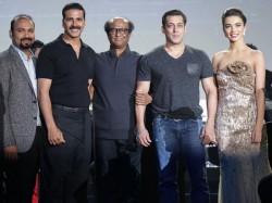 Salman Khan Was Not Invited Rajinikanth Akshay 2 0 Poster Launch Pics