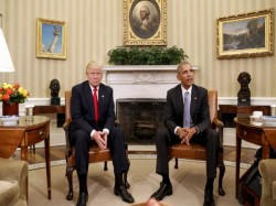 Donald Trump Meets President Barack Obama At The White House