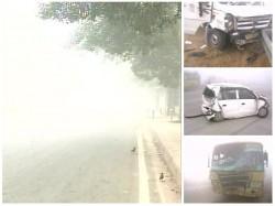 Vehicle Pile Up On Yamuna Expressway Many Reportedly Injured