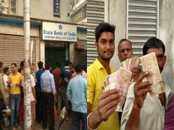 Customers Lined Up Front Banks At West Bengal