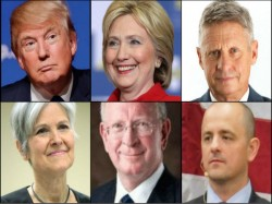 Candidates Us Presidential Election 2016 Apart Hillary Trump