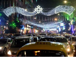 Park Street Is Ready Christmas Celebration Come Illumination