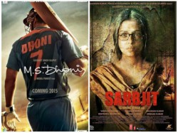Aishwarya Rai Sarbjit Ms Dhoni Biopic The Running Oscars
