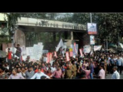 Jadavpur University Research Staff Sat On Hunger Strike