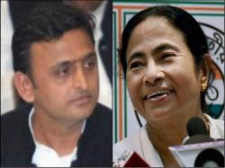 Mamata Congratulate Akhilesh Through Twitter Planning Back Foot Bjp