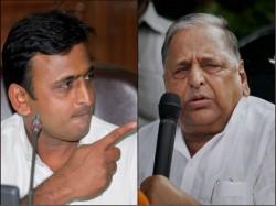 Samajwadi Party Feud Mulayam Fight Against Son Akhilesh Yadav