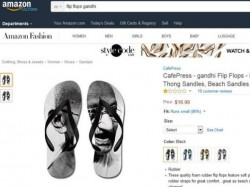After Indian Flag Amazon Now Flip Flops With Mahatma Gandhi Image