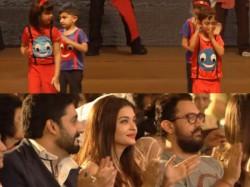 Video Aaradhya Azad Dance Together Aishwarya Rai Abhishek Bachchan Aamir Khan Cheer On