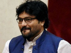 Tmc Activists Stage Demonstration Stopping Union Min Babul Supriyo Black Flag