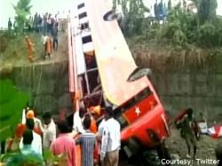 Died 40 Injured As Bus Falls Trench Birbhum West Bengal