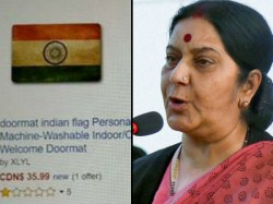 Sushma Swaraj S Warning Amazon Over Sale Tricolour Doormats