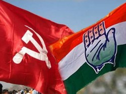 Left Congress Mlas Marched Jointly From Legislative Assembly To Raj Bhavan