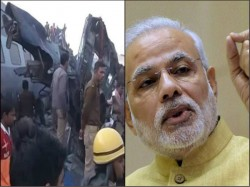 Kanpur Train Accident Congress Slams Pm Modi Over His Remark