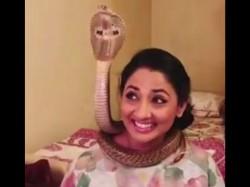 Actress Shruti Ulfat Arrested Posing With Endangered Cobras