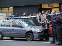 In Brussels Man Held After Driving Car Into Crowd