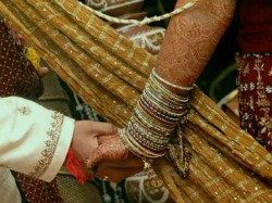 Mp Couple Ties Knot With Child On Lap As Bribe Demand Delays Their Marriage
