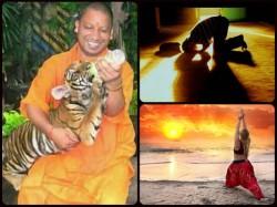 Yogi Adityanath Says Suryanamaskar Similar Postures Muslims While Oferring Namaz