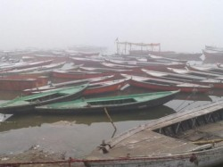 Jetty Collapsed In The Ganges Closed Of Hooghly Ghat Bhutbhuti