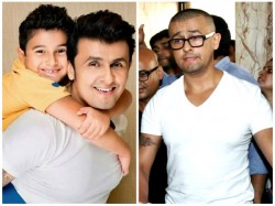 Sonu Nigam Azaan Row Singer S Son Shocked See Daddy S Bald Avatar