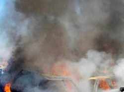 Suicide Bomber Targets Nato Convoy Kabul 4 Dead 22 Injured