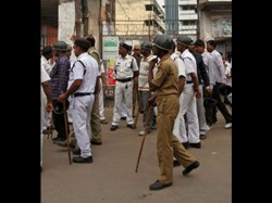 Police Has Cordoned Off Central Kolkata Over Bjp Rally