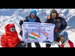 Nine Year Old Surat Girl Becomes The Youngest Climb Europe S Highest Peak