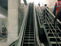 Escalator Started Move Opposite Direction At New Garia Metro Station