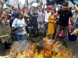 Gorkha Janmukti Morcha Supporters Burn Gta Contract At Darje