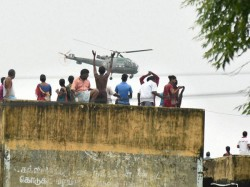 Ghatal Flood Victims Refuse Air Force Helicopter Affection Homestead