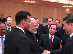 Modi Xi Jinping Shook Hands Praises Each Other At Brics Meet
