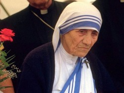 Saint Mother Teresa S Blue Bordered Sari An Intellectual Proerty Now