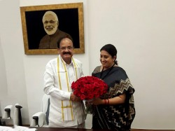 Smriti Irani Takes Additional Charge I B Ministry Urban Development Narendra Singh Tomar
