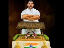 Dubai Bakery Makes Dangal Cake Celebrate India S Independence Day Video Goes Viral