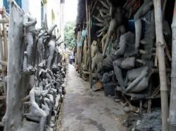 Kumartuli Is Busy With Making Durga Idol