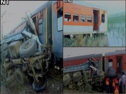 Kaifiyat Express Gets Derailed Uttar Pradesh S Auraiya 74 Injured
